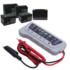 12V 6 LED Car Motorcycle Battery Tester Car Batter/ Alternator Monitor Device