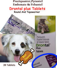 20 Tablets-Drontal Dog Plus Flavour - Round/Hookworm/Tapewormer Bayer Product