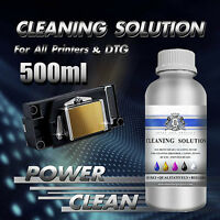 500ml Print Head Cleaner Cleaning Fluid for ALL Inkjet Printers Epson Canon etc