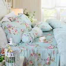 Fadfay Farmhouse Bedding Shabby Blue Floral Vintage Floral Print Duvet Cover Set
