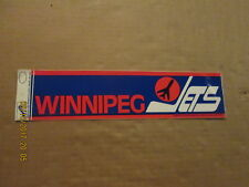 NHL Winnipeg Jets Vintage Circa 1980's Logo Hockey Bumper Sticker