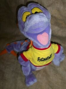 "Vintage FIGMENT 18"" Disneyland  Disney Plush Stuffed DRAGON Purple"