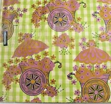 Vintage Gift Wrap Wrapping paper Mod Bold pink Green 70's Sealed Flowers MCM