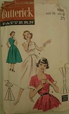 Vintage 1950's Sewing Pattern Square Neckline Circle Skirt Sundress B36 Rare