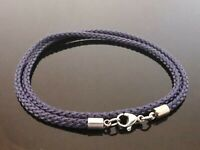 """3mm Black Silicone Rubber /& Stainless Steel 18/"""" Necklace With Magnetic Clasp"""