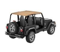Bestop for Bikini Top, Strapless Safari-style - Jeep 1992-1995 Wrangler; Safari