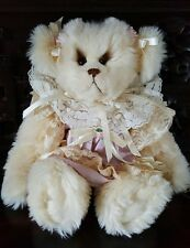 "OOAK Artist Bear -Bear Elegance Joan Woessner ""Taffy"" -16"" White German Syn. Fur"
