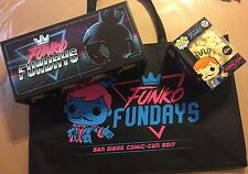 SDCC 2017 Funko Fundays Bag, An Empty Pop Box and Pop Corn Only From Fundays