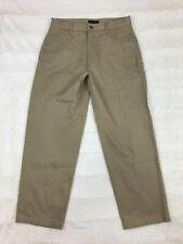 Cambridge Classics Mens Khaki Pants Size 32x30 Flat Front Creased Straight Leg