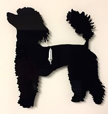 Poodle Dog Clock In Black...Laser Cut