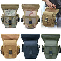 Tactical Military Drop Leg Bag Thigh Pouch Waist Belt Pack Outdoor Sports Bag