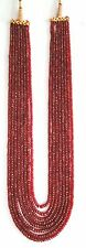 752 CT 8 Strand Natural Ruby Gemstone Beads Necklace India
