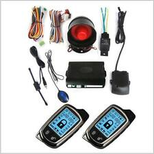 2-Way Car Alarm Security System w/ LCD Super Long Distance Controlers Kit 2 Pcs