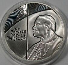 1999 Poland Polen 10 zl zlotych Silver 925 Pope John Paul II The Pilgrim RARE