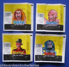 Fright Flicks  Bubblegum Card Wrappers - Set of 4 - 1988  Topps