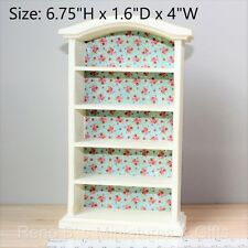 Dollhouse miniature Furniture 1:12 Shabby Chic White 5-shelf Bookcase NEW