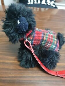 Black Scottish Dog With Leash Toy plush By Keel