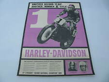 Original 1962 Harley Davidson Race Poster Bart Markel Carroll Resweber KR XLR