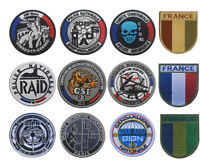France Flag GIGN RAID Police Nationale Tactical Morale Hook Loop Patch Armband