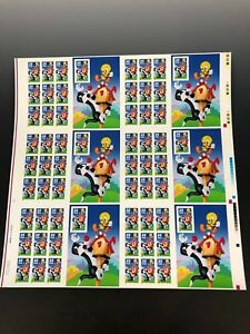 Sylvester Tweety, Full Pane, 32 cents, 6 sheets together