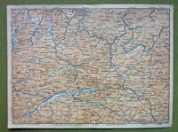 AUSTRIA Oberinntal Alps Gmunden Langau Environs - 1911 MAP ORIGINAL Baedeker