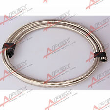 Stainless Steel Double braided 1500 PSI -6AN AN6 Oil Fuel Gas Line Hose