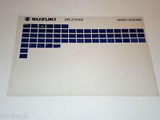 Microfich Spare Parts Catalog Suzuki Third - Z 70 Stand 2008
