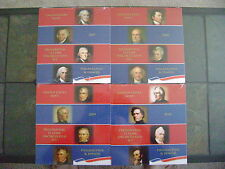 2007-2010 US MINT PRESIDENTIAL P & D UNCIRCULATED 8-COIN DOLLAR SETS