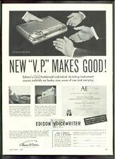 EDISON The V.P. VOICEWRITER 1953   ad advertisement