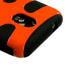 SAMSUNG EPIC TOUCH 4G D710 GALAXY S 2 R760 DUAL LAYER HYBRID CASE BLACK/ORANGE
