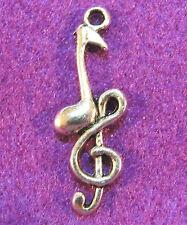 10Pcs. Tibetan Silver 3D Musical NOTE Charms Pendants Earring Drops M05