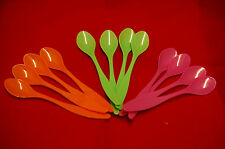 New 12 Pack Baby Feeding Colourful Plastic Spoons Toddler Feeding Spoon