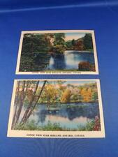 POSTCARDS LOT 2 SCENIC VIEW NEAR MIDLAND ONTARIO CANADA RIVER TREES
