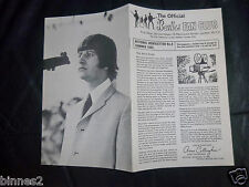 THE BEATLES UK FAN CLUB NEWSLETTER No.5 1965 12 PAGE ONLY EVER ISSUED TO MEMBERS