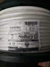 FP Cable 2 Core + Earth 4mm² x 100 Metre White BS 6387  BS 7629-1 Basec Cable