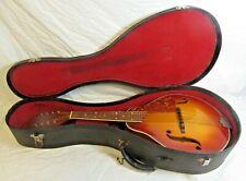 Vintage Kay 8 String Mandolin With Black Hard Case