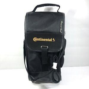 Picnic At Ascot Wine Bottle Bag Continental Tires Travel Black Carrier Shoulder