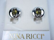 Earrings with Enamel 0884 Nina Ricci Rhodium Plated Clip-on