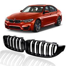 Glossy Black Front Kidney Grille Grill for 2012-2017 BMW F30 320i 328i 335i 4DR