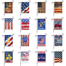 "12 x 18"" Stars Stripes Patriotic Usa Welcome Garden House Flag Yard Flower Decor"