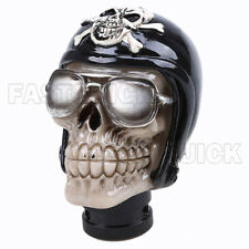 Universal Wear Glasses Skeleton Head Manual Car Gear Shift Knob Shifter Lever