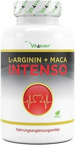 L-Arginin + Maca Intenso 240 Kapseln - 9800mg - Potenz Sex Booster Potenzmittel