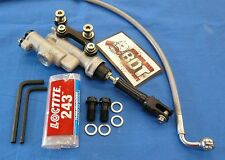 HONDA ATC 250R ATC250R OEM REAR BRAKE MASTER CYLINDER SYSTEM NEW BDT BLACK KIT