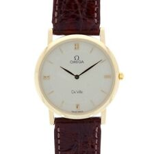 Gents Omega De Ville 18ct Yellow Gold Croc Strap Watch Circa 1993