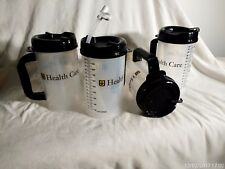 New Lot of 2, 32 OZ Whirley TM-32 Thermo Hospital Mug with Swivel Lid