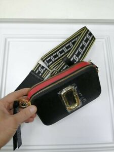 Marc Jacobs Snapshot Crossbody Bag Black &Red Colore