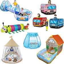 Pop Up Kinder Spielzelt Kinderzelt Spielhöhle Bällebad Spielhaus Babyzelt Tunnel