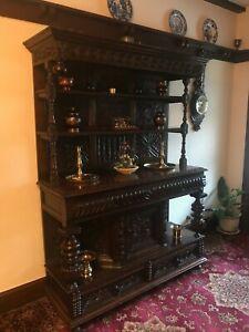18th Century Antique Oak Dresser Tridarn Deuddarn Cwpwrdd House Clearance