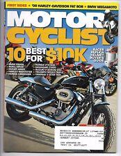 Motorcyclist Magazine October 2007- BMW F800S, Buell XB12R, Ducati Monster 695