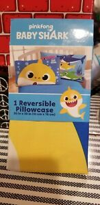 Pinkfong Baby Shark 1 Reversible Pillowcase 20in x 30in